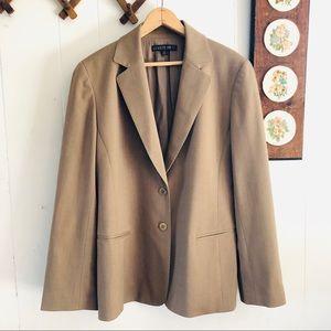 Lafayette 148 Tan Wool Blazer